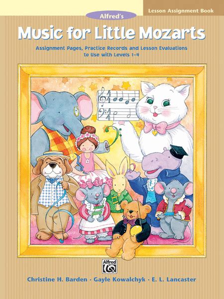 For Mozarts Lesson Book 4 for mozarts lesson assignment book sheet by christine h barden sheet