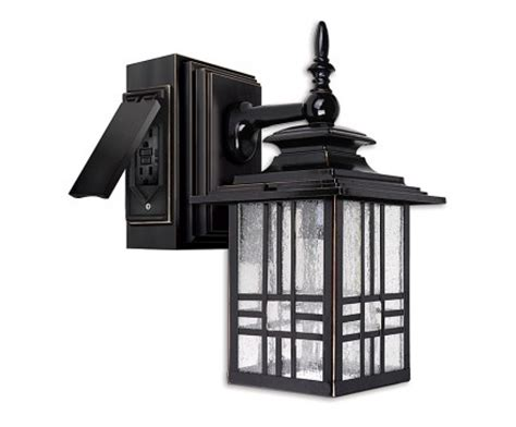 outdoor wall light with gfci outlet outdoor light with gfci outlet shop portfolio gfci 11 81