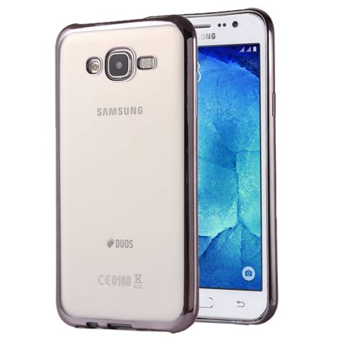 Soft Samsung J7 J700 Silikon Samsung Galaxy J7 Cover Samsung J7 electroplating soft tpu protective cover for samsung galaxy j7 j700 grey alex nld