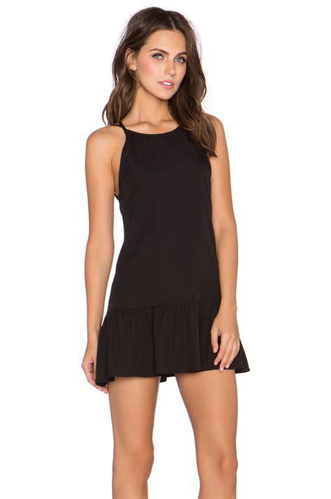 Mini Dress Yuka Black lyst glamorous ruffled hem mini dress in black