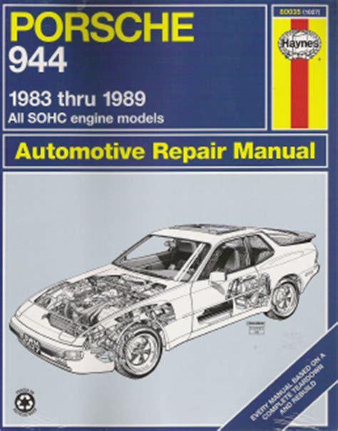 1983 1989 porsche 944 haynes repair manual