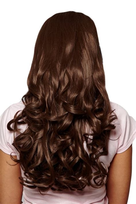 pre curled hair extensions big bouncy curly pre styled synthetic hair 3 4 wig