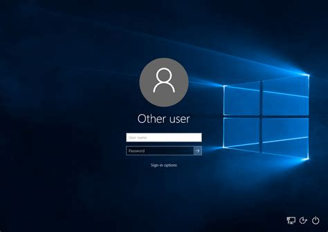 Screen Default how to make windows 10 ask for user name and password