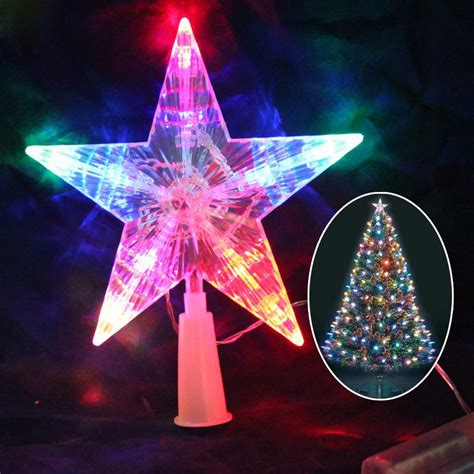 battery powered twinkle lights tree 3d topper light up battery operated