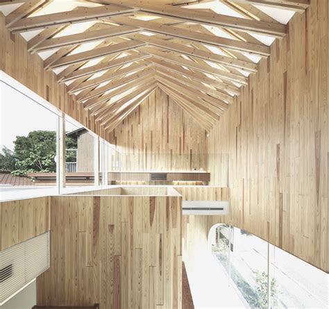 timber architecture dental clinic by kohki hiranuma features exposed timber