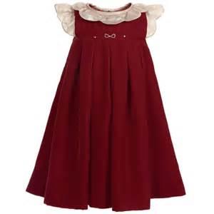 la stupenderia baby girls red velvet dress childrensalon