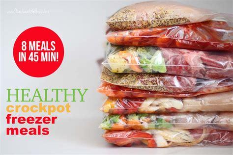 printable crockpot recipes 8 healthy crockpot freezer meals in 45 minutes new leaf