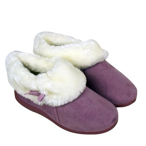 fur lined slippers womens dunlop bootee faux suede slippers