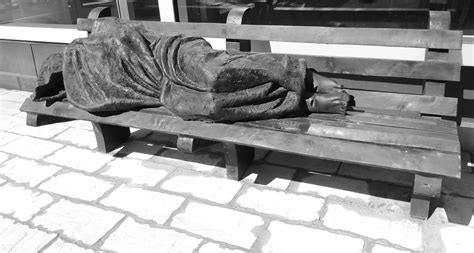 homeless jesus on park bench eleventh day of lent the nature of a glad giver chaps