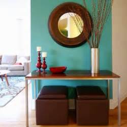 Dark brown amp red cool modern design and colorful living room foyer