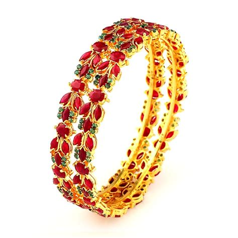 Handcrafted Bangles - emerald traditionally handmade ruby emerald bangles