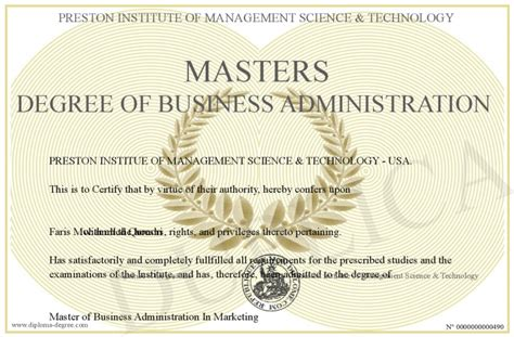 Information Of Mba Degree by The Gallery For Gt Masters Degree In Business