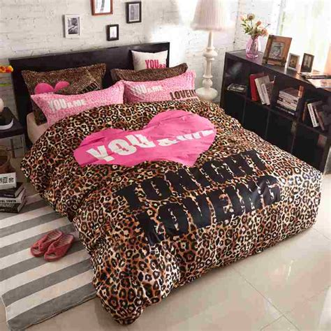 Cheetah Print Bed Set Popular Pink Leopard Print Bedding Buy Cheap Pink Leopard Print Bedding Lots From China Pink