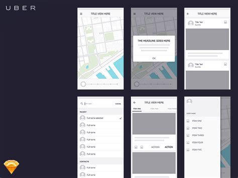 design app like uber uber wireframe kit sketch freebie download free resource