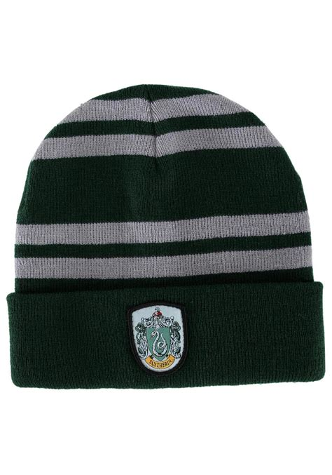 harry potter knit hat slytherin knit hat harry potter hogwarts hats