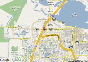sanford florida on map map of springhill suites by marriott orlando sanford
