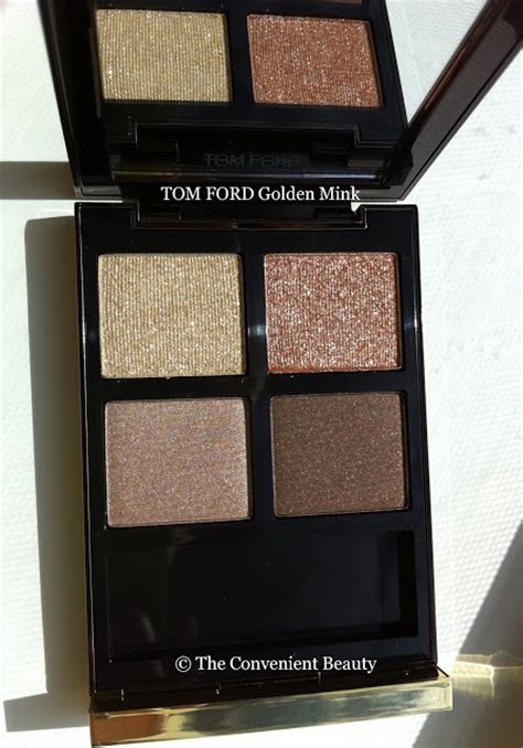 Eyeshadow Quads For Brown the convenient review tom ford eyeshadow 01 golden mink