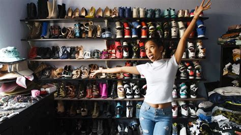 The Sneaker Closet by Karrueche S Shoe Closet Proves Why She Won T Date Who Rock Team Jordans Theshoegame