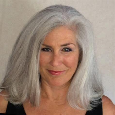 grey hair on mid length hair long gray hair as the world turns silver pinterest
