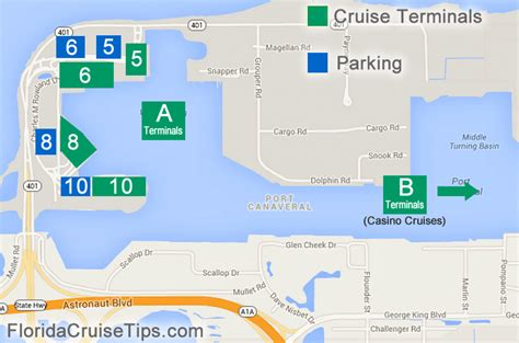 port canaveral map florida port canaveral cruises florida cruise tips