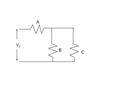 shorted resistor in a parallel circuit 301 moved permanently
