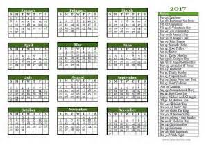 2018 Calendar Religious 2017 Christian Festivals Calendar Template Free