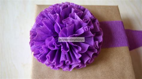 How To Make Flower With Crepe Paper - simplejoys crepe paper flowers