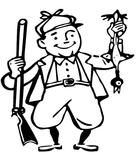 turkey hunting coloring page vector of a cartoon disappointed fisherman with coloring