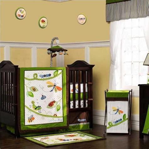 Dragonfly Crib Bedding Set by Dragonfly And Grasshopper Gender Neutral Nursery 8pc Bugs