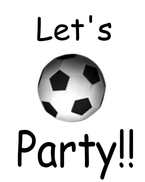 free printable soccer party decorations free printable soccer party invitations clipart best