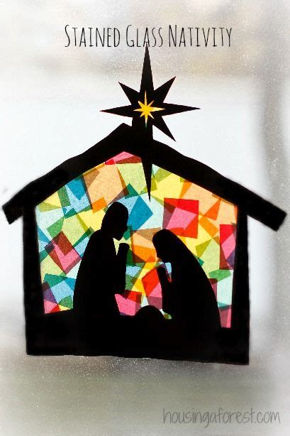 he s here or supplemental christmas craft nativity