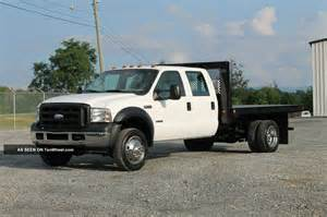 Ford Dually Truck 2007 Ford F550 Xl Crew Cab Flatbed Dually Truck 6 0l Diesel