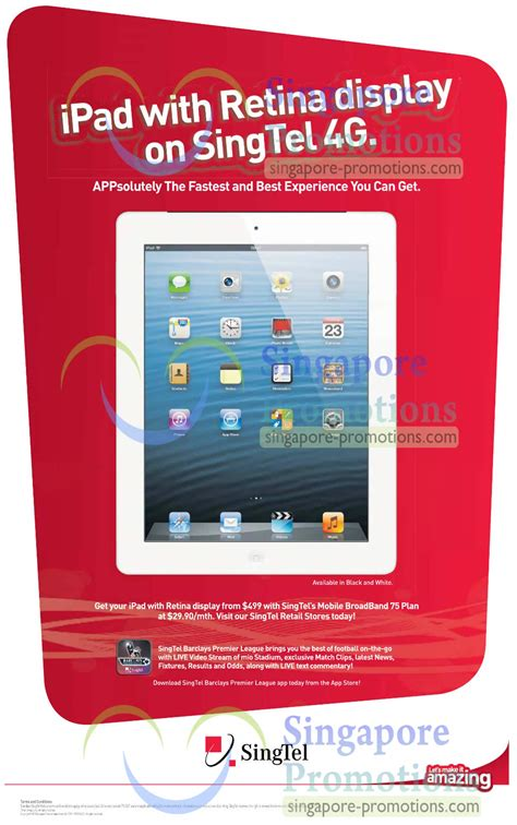 Apple 4 Retina Display Apple 4 With Retina Display 187 Singtel Smartphones Tablets Home Mobile Broadband Mio