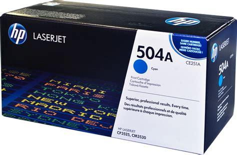 Toner Hp 504a Ce251a Cyan Original 1 hp 504a cyan laserjet toner cartridge ce251a