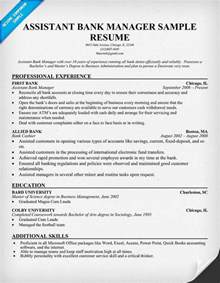 Banking Assistant Sle Resume by Assistant Bank Manager Resume Resume Sles Across All Industries Resume