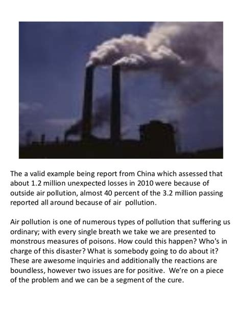 Effect Of Air Pollution Represents This Powerpoint Template Air Pollution Ppt Templates Free