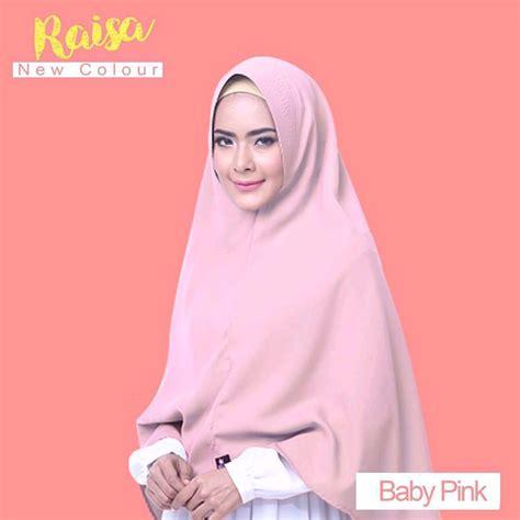 jual jilbab kerudung khimar raisa alsa size m l xl warna baby pink di lapak tiar