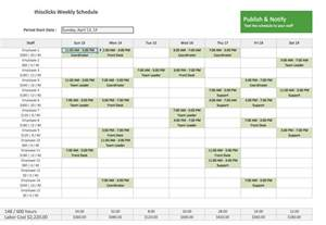 Schedule Template In Excel by Employee Schedule Template Excel Best Business Template
