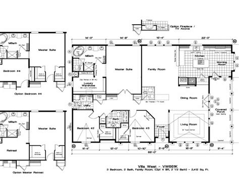 golden west villa west floor plans 5starhomes