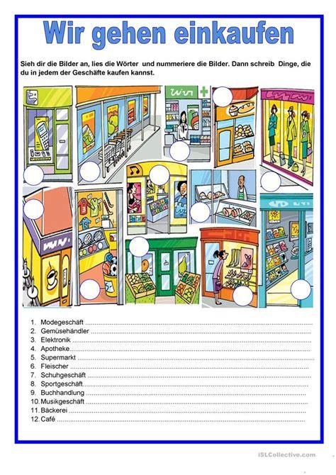 im supermarkt kinderbuch deutsch spanisch 3198495962 gesch 228 fte wir gehen einkaufen arbeitsblatt kostenlose daf arbeitsbl 228 tter