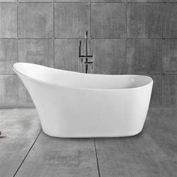 Freestanding Bathtub Canada by 67 In Single Slipper Freestanding Bathtub Acrylic White