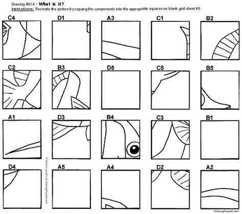 printable art worksheets for high school grid drawing puzzles drawing puzzles com middle school