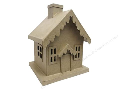 Paper House Craft - paper mache house by craft pedlars createforless