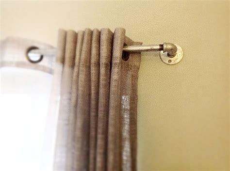 industrial looking curtain rods diy industrial look curtain rod bedroom re do pinterest