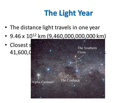Distance Light Travels In One Year by Sense Of The Universe Ppt
