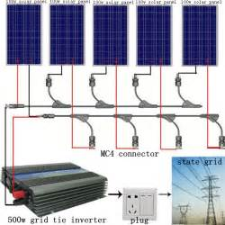 500w 5 100w pv solar panel kit 500watt poly solar module 500w grid tie inverter ebay