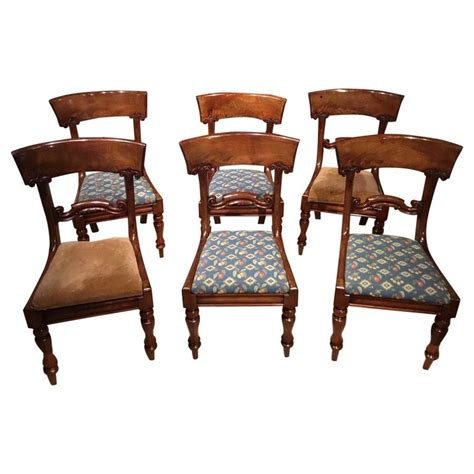 set   mahogany early victorian period dining chairs