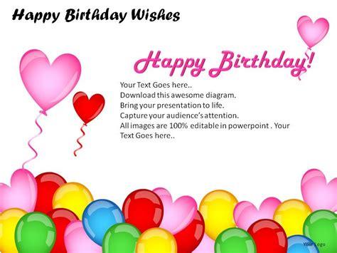 Happy Birthday Wishes Powerpoint Presentation Slides Birthday Slideshow Templates