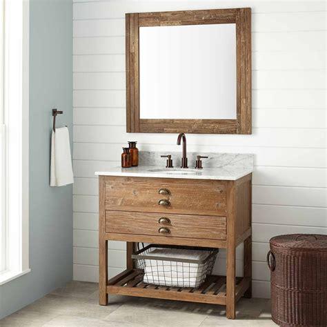 Reclaimed Bathroom Vanity by 36 Quot Benoist Reclaimed Wood Vanity For Undermount Sink