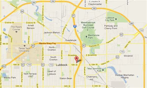 lubbock texas on a map city of lubbock health department map